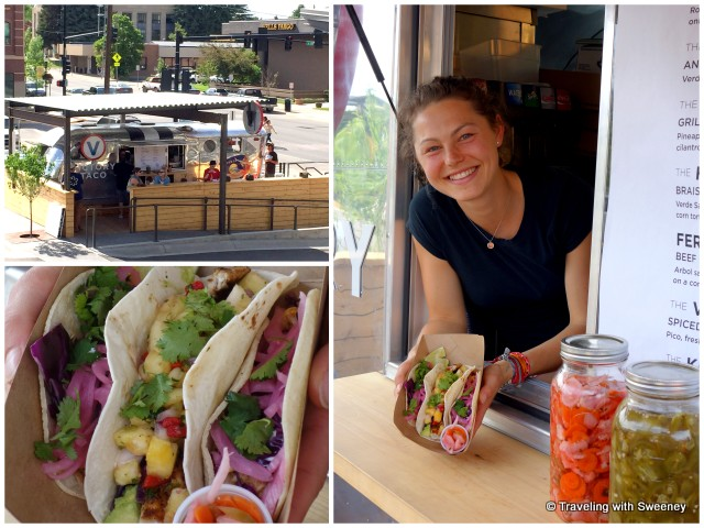 Service with a smile adds to the enjoyment of these delicious fresh tacos at Victory Taco  in Bozeman, Montana