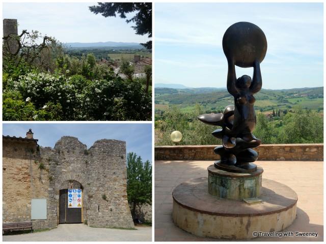 Rocca di Montestaffoli, sculpture by Nic Jonk