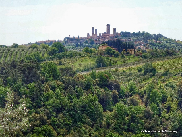 Towers of San Gimignano on a hilltop of Tuscany