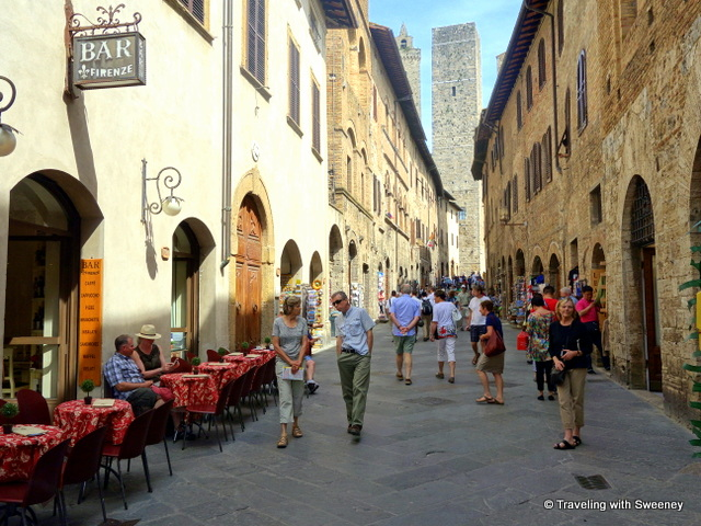 Via San Giovanni (in background is Torre Grossa (left) and