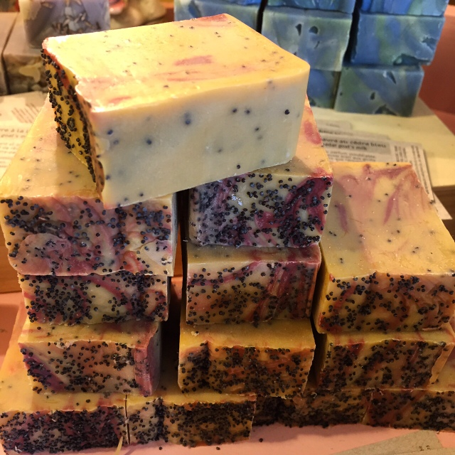 California Dreamin' patchouli and poppy soap at Quai des Bulles in Kamouraska