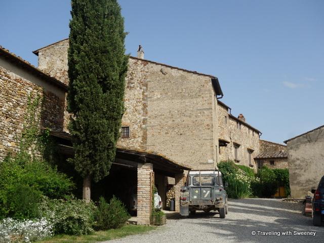 Ancient stone buildings of Fattoria Corzano e Paterno in San Pancrazio, San Casciano, Italy