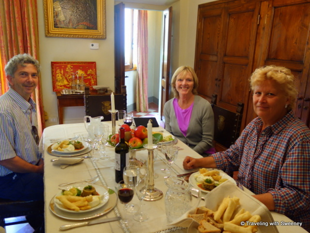 A memorable dining experience in Renaissance ambiance with Andrea and Claudia in Villa Caserotta