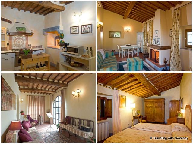 A glimpse of interior rooms of Borgorosa rental units in San Casciano, Italy