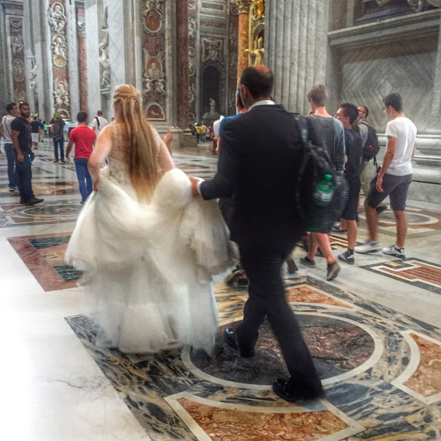 Bride in St. Peter's Basilica, Rome