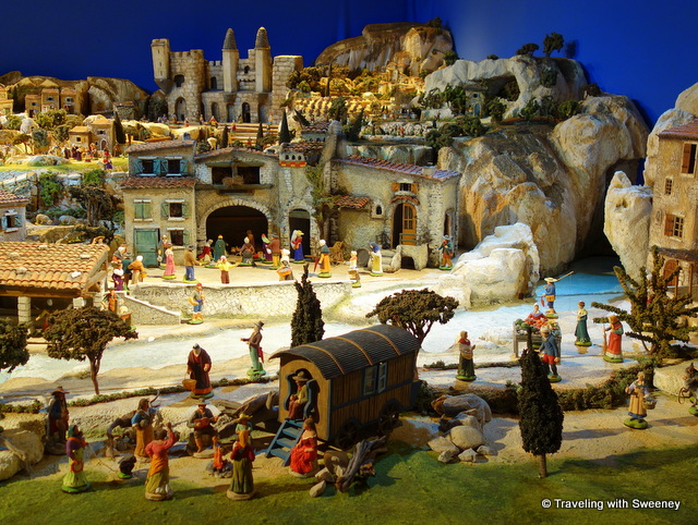 The creche in l'Eglise des Celestins in Avignon with santons created by Marcel Carbonel