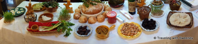 A table is set for Le Gros Souper, the special Christmas Eve meal in the Provence region of France