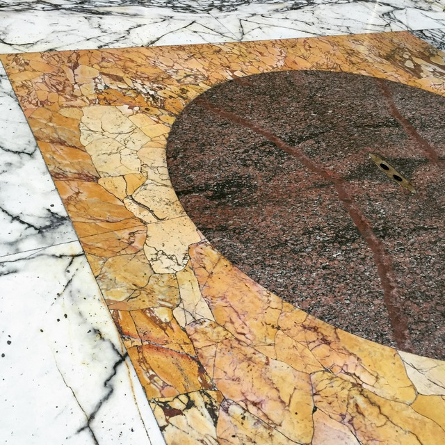 Marble floor at the Pantheon