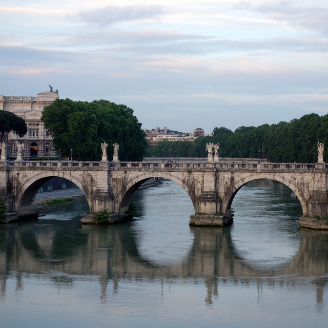 Pont Sant'Angelo over the Tiber River, Rome