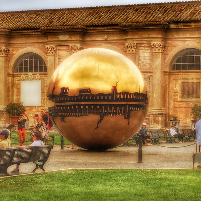 """Sphere within Sphere"" sculpture at the Vatican"