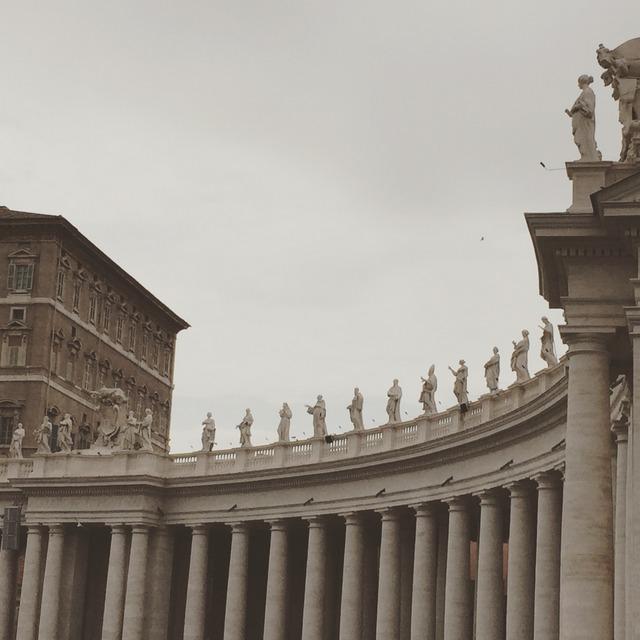 Vatican colonnade designed by Bernini