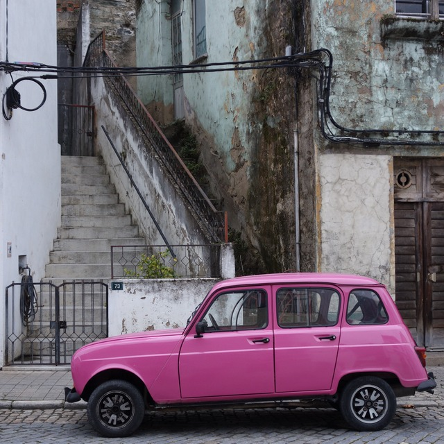 Pretty in pink in Pinhao, Portugal