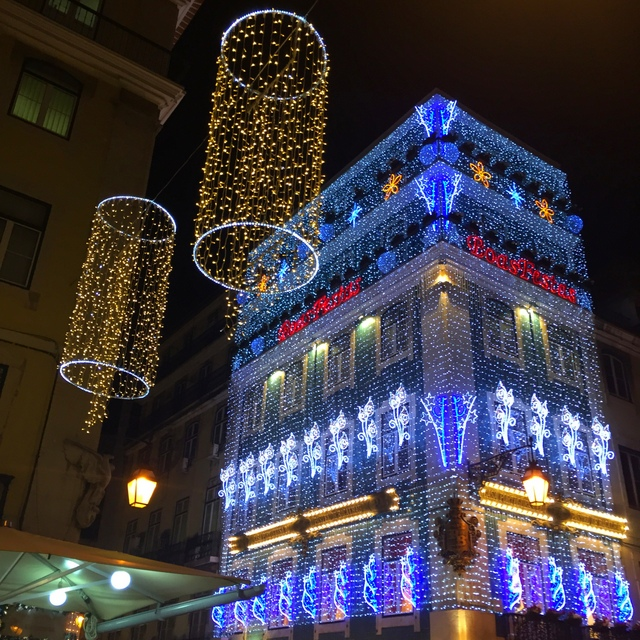 Lights of Christmas in Lisbon