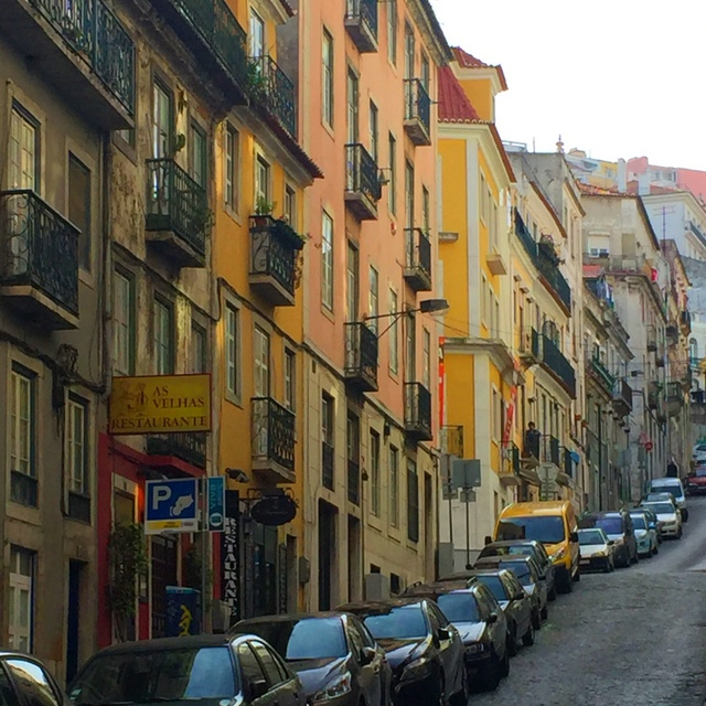 Colorful buildings of Lisbon