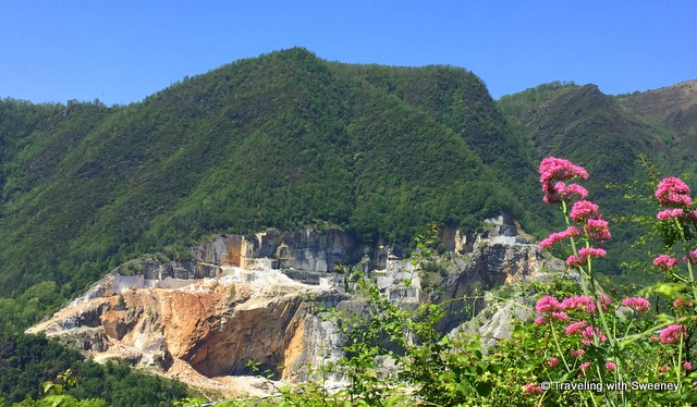 A marble quarry in the Apuan Alps near Pietrasanta, Italy