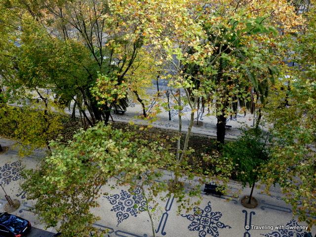 View from our room at Hotel Tivoli overlooking the Avenida da Liberdade, Lisbon
