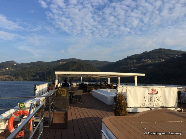 View from the top deck of the Hemming on our Viking cruise on the Douro River