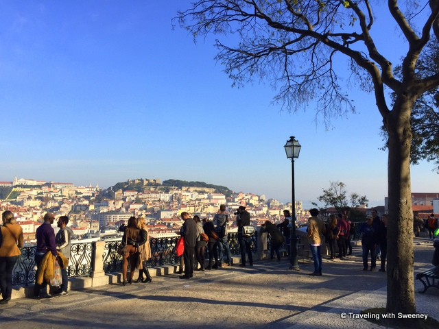 Miradouro de Sao Pedro de Alcantara, a lovely park and vista point in Bairro Alto, Lisbon