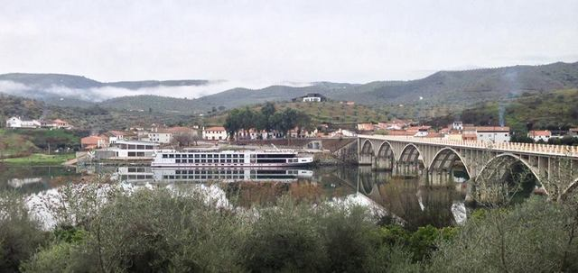 The Viking Hemming at port in Barca d'Alva across the river from Spain -- Photo credit: Joaquim de Sousa