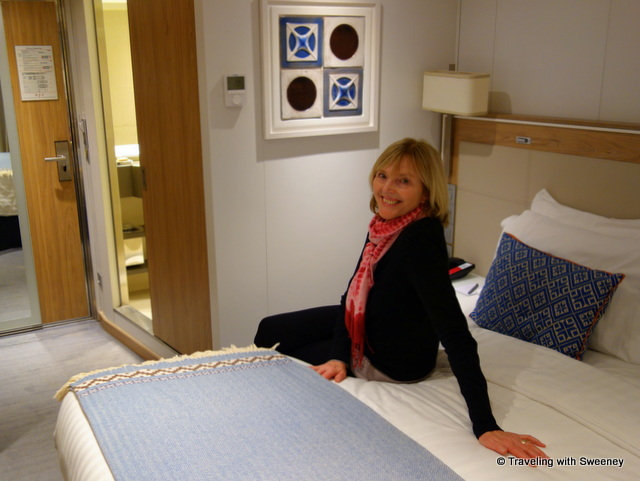 Relishing the comfort of our lovely and well-appointed Veranda Stateroom on the Viking Hemming