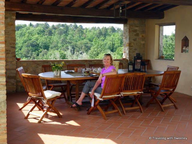 Relaxing on the terrace of Casa Mattei
