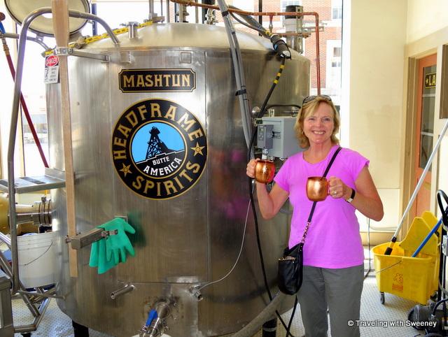 Cathy at Headframe Spirits, Butte, Montana