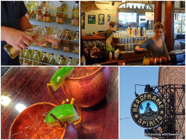 Distilled spirits and Montana Mules at Headframe Spirits in Butte, Montana
