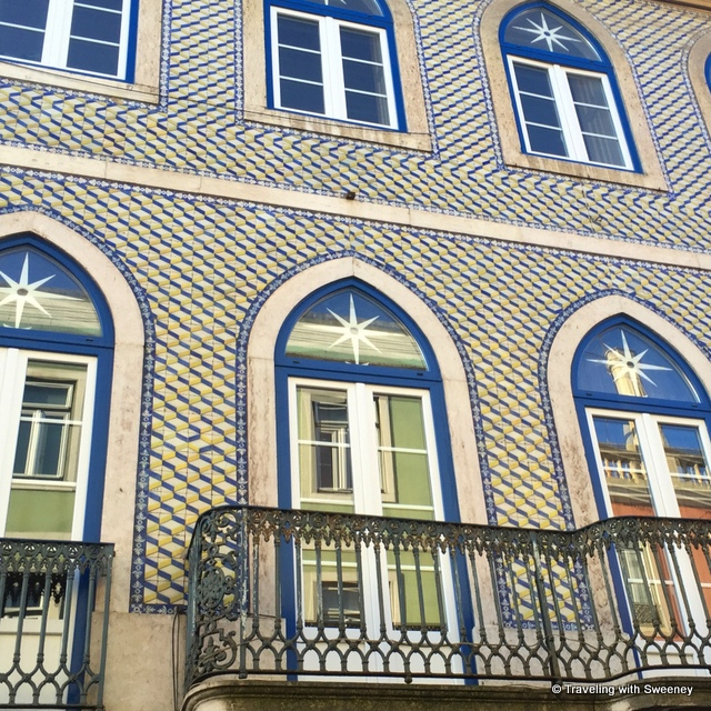 Moorish influences on a facade - from our Portugal Instagram photos