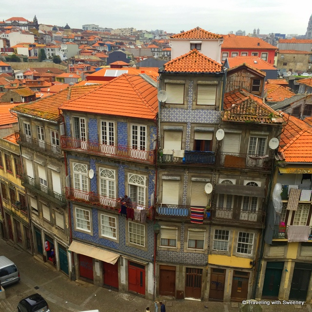 Red-tiled roofs cover the colorful buildings of Porto - from our Portugal Instagram photos