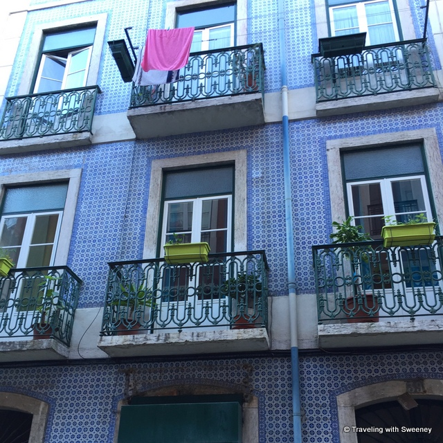 Colorful adornments Lisbon tile facades - from our Portugal Instagram photos