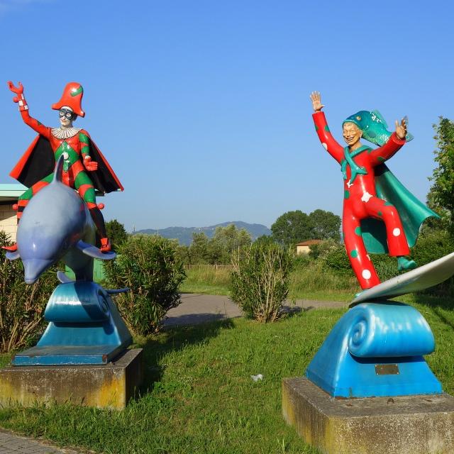 Statues at entrance of La Citadella di Carnevale in Viareggio, Italy --- Tuscany on Instagram