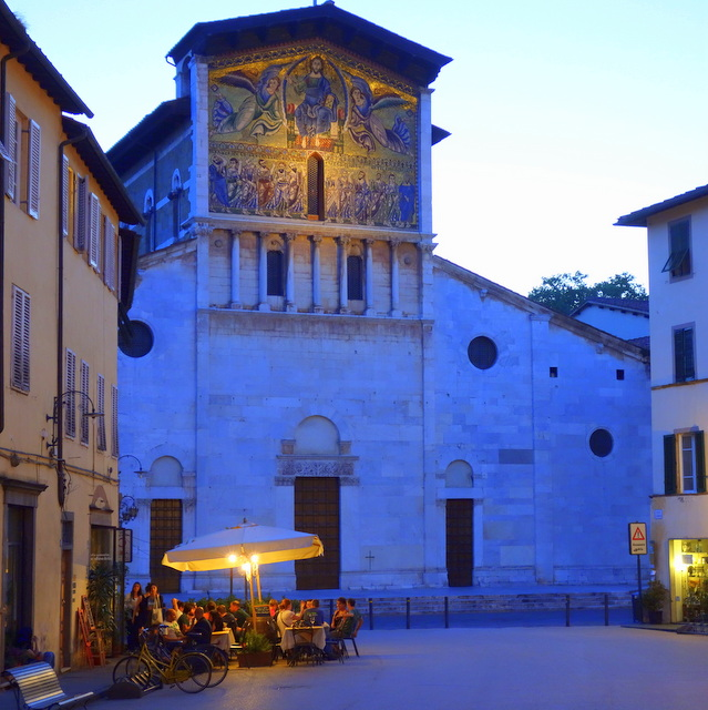 Evening in Piazza San Frediano in Lucca, Italy -- Tuscany on Instagram