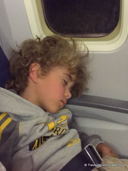 Sleeping on the plane ride home