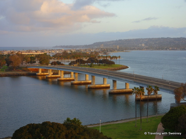 View from 14th floor of Hyatt Regency Mission Bay, San Diego