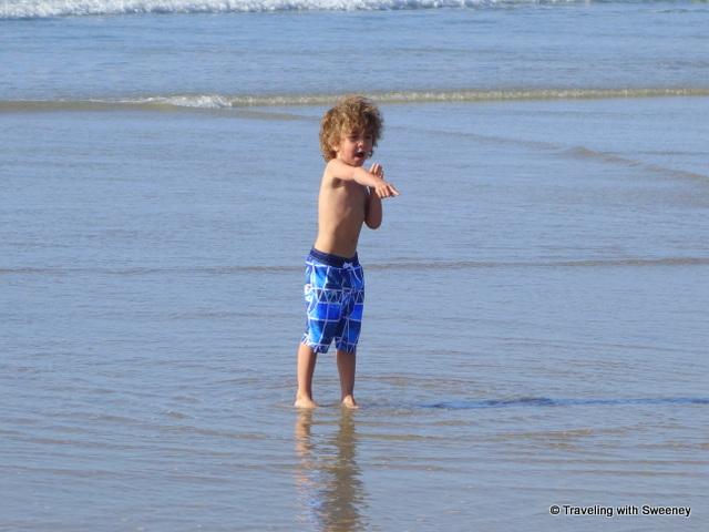 On the beach in La Jolla