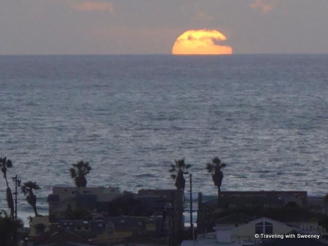 Sunset view from Hyatt Regency Mission Bay, San Diego