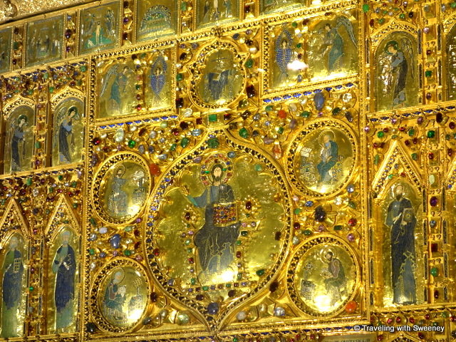 Byzantine altarpiece with over 1,900 gems in St. Mark's Basilica in Venice