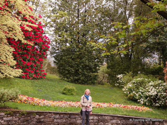 Strolling the beautiful hillside of Villa Taranto in Pallanza, one of the fantastic gardens of Lake Maggiore