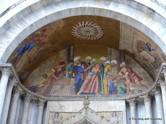 Exterior mural of St. Mark's Basilica, Venice