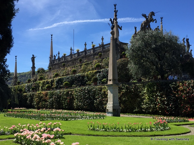 The terraced gardens of Isola Bella