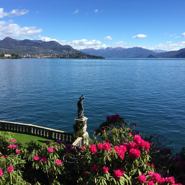In the palace gardens on Isola Bella on Lake Maggiore in the Piemonte region of Italy