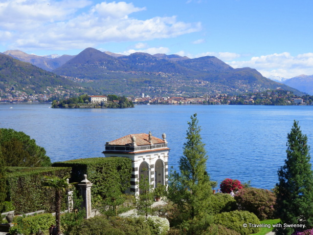 Lake Maggiore from the palace and gardens of Isola Bella