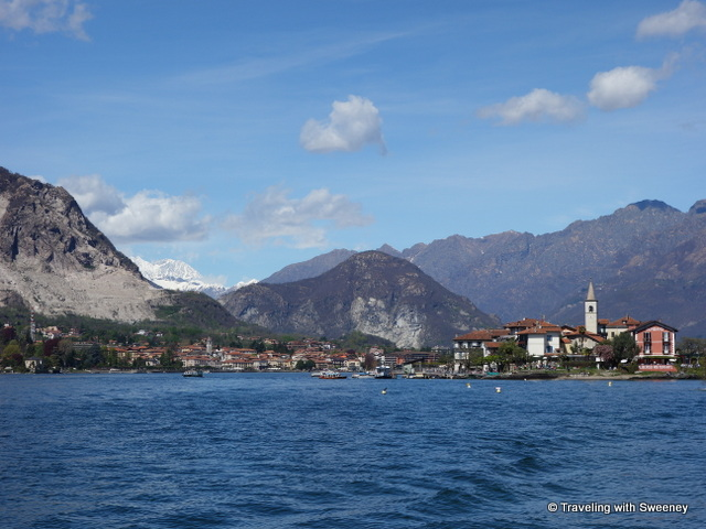 Isola Pescatori (on the right) on Lake Maggiore