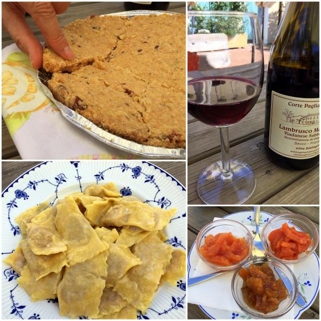 Food and wine specialties of Mantua at Locanda delle Grazie in Curtatone, Italy