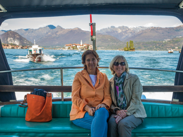 On Lake Maggiore with Luisa -- Photo credit: Emilia Grisetti