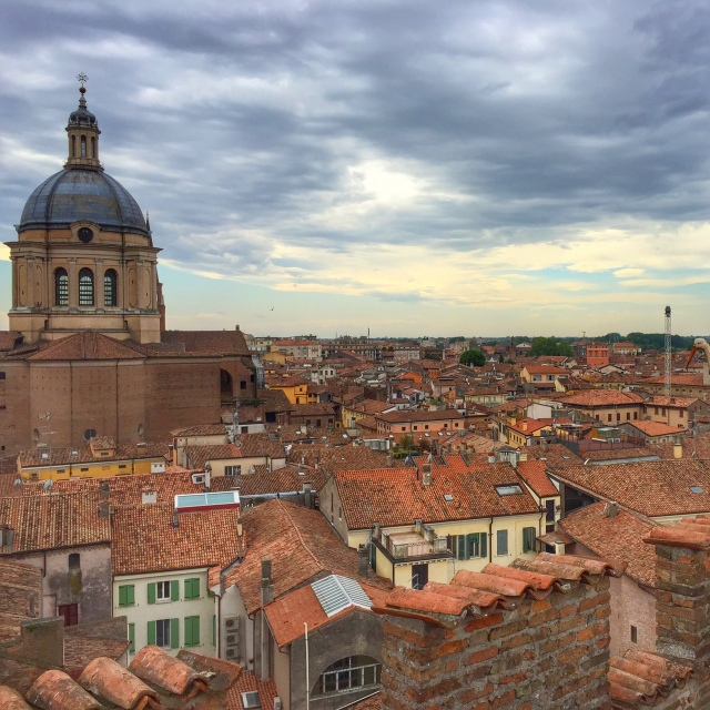 View of Mantua from our Tower Suite at Palazzo Castiglioni -- Lombardy region of northern Italy