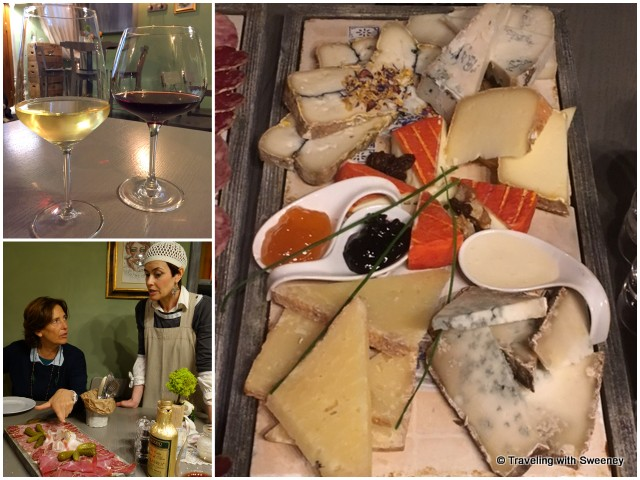 Wine, cheese, and meat specialties of the Piedmont region at Pan e Vino in Orta San Giulio