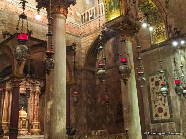 A section on the right side of the basilica where it is said St. Mark's bones were miraculously rediscovered in a pillar