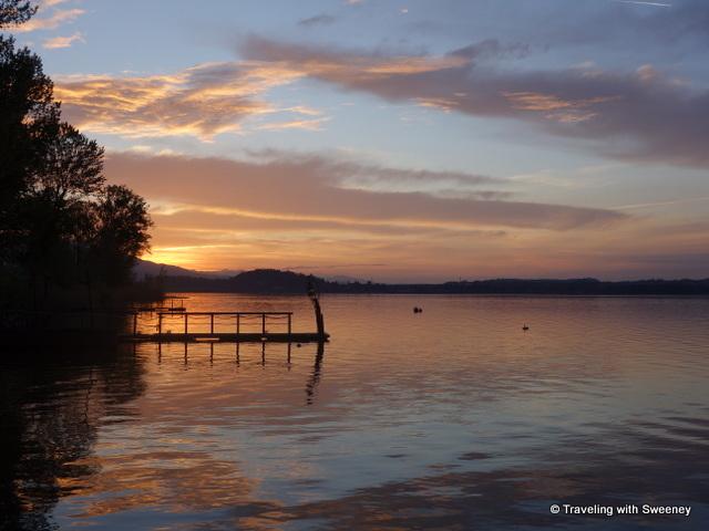 Sunrise on Lake Maggiore from Casa del Lago during our stay on Lake Maggiore