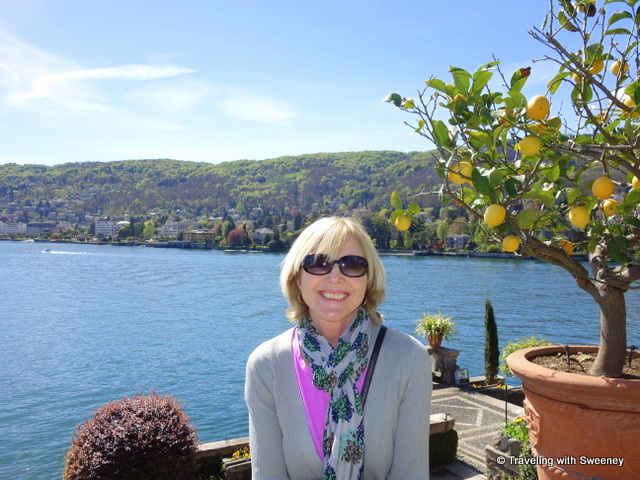 Basking in the sunshine among the lemon trees of Isola Bella